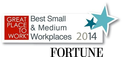 2014 Small & Medium Best Workplaces (PRNewsFoto/ONTRAPORT)