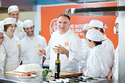 The International Culinary Center Unveils its Spanish Culinary Arts Curriculum Developed with World-Renowned Chef Jose Andres. Program to Debut in February 2013 and will Culminate with Weeklong Trip to Spain with Andres.  (PRNewsFoto/The International Culinary Center, Thomas Schauer)