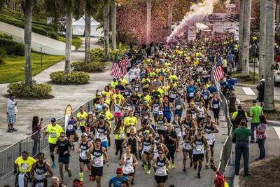 Participants in the Wings for Life World Run take off Sunday morning in Sunrise, Fla., one of 34 locations around the world shining a light on spinal cord injury research.