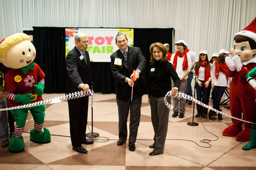 The ribbon-cutting ceremony at the opening of the 108th American International Toy Fair.  (PRNewsFoto/Toy Industry Association)