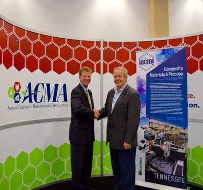 Tom Dobbins, ACMA President and Craig Blue, IACMI CEO signed a partnership agreement and will be collaborating on composites training and workforce development initiatives.