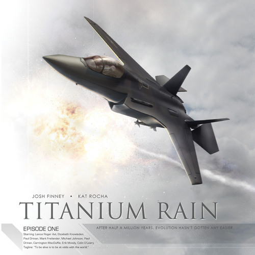 Titanium Rain is one of many full-cast productions available through www.audiocomicscompany.com. Based on the graphic novel, Civil war in China spirals into global conflict, nations destroyed, millions killed. For Air Force pilot Alec Killian, survival means shedding humanity in exchange for biotech and machine. AudioComics' productions are also available through iTunes and Amazon MP3!.  (PRNewsFoto/AudioComics)