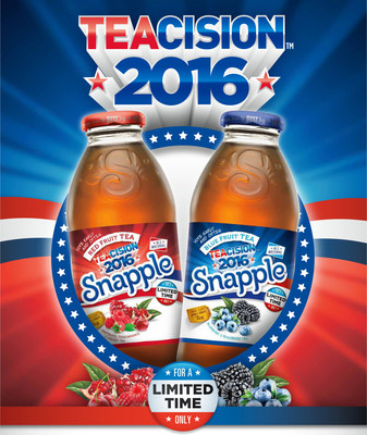 "Snapple is celebrating break time with new limited-time tea flavors launching this summer. The brand's Red Fruit Tea flavor incorporates pomegranate, cherry and raspberry, and the Blue Fruit Tea flavor incorporates blueberry and blackberry. Snapple's new teas are backed by a ""TEAcision"" integrated marketing campaign that taps into the excitement around the 2016 Presidential election and includes consumer events and a partnership with actor Michael Rapaport."