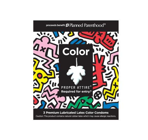 Keith Haring Collaborates with Proper Attire Condoms.  (PRNewsFoto/Proper Attire LLC)