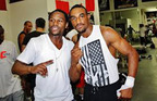 J Leon Love with his mentor Floyd Mayweather.  (PRNewsFoto/Live Love Brand Limited)