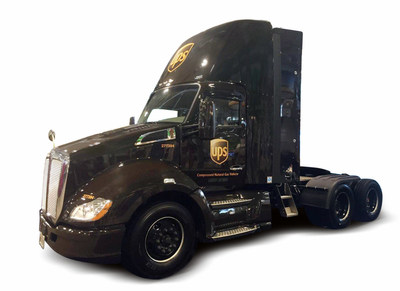 UPS Truck with Agility CNG Fuel System