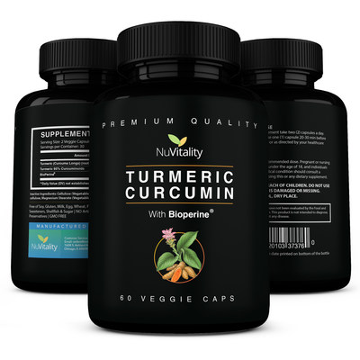 Premium 95% Standardized Turmeric Curcumin with Black Pepper Extract (Piperine or Bioperine)
