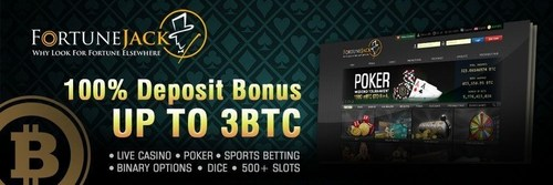 FortuneJack Bitcoin Casino offers generous weekly promotions and rewards with a 100% deposit bonus, up to 3 ...