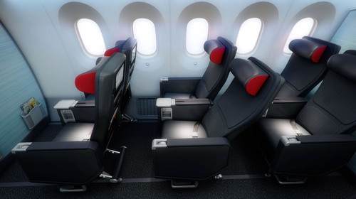 Premium Economy seat. (PRNewsFoto/Air Canada) (PRNewsFoto/AIR CANADA)