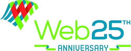 The official Web at 25 logo (PRNewsFoto/World Wide Web Foundation)