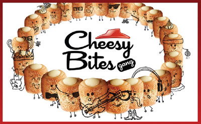 Pizza Hut is introducing the Cheesy Bites Gang, a band of 28 characters that have commandeered the Pizza Hut Facebook page (facebook.com/pizzahut) to share their exploits with the brand's more than 7 million fans.  (PRNewsFoto/Pizza Hut)
