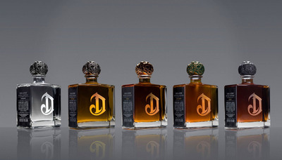 DeLeon's five variants: Diamante, Reposado, Anejo, Extra Anejo, and Leona.  (PRNewsFoto/Diageo)