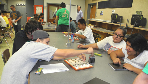 SunPower Solar Science Academy students explore practical applications of solar technology.  (PRNewsFoto/SunPower Corp.)