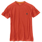 Carhartt's Force Extremes(TM) Short Sleeve T-Shirt with FastDry(R) 37.5(TM) technology dries faster than you can sweat keeping your body at its ideal temperature while fighting odor.