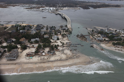 Hurricane Sandy Damage in New Jersey - Photo Credit: US Fish & Wildlife Service.  (PRNewsFoto/SearchSeniorLiving.com)