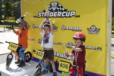 One of the many reasons Denver is Cycle Town USA: The Mile High City is home to the finish of the nation's most grueling bike race--the US Pro Challenge which includes the Kid Strider Cup.  (PRNewsFoto/VISIT DENVER, The Convention & Visitors Bureau)