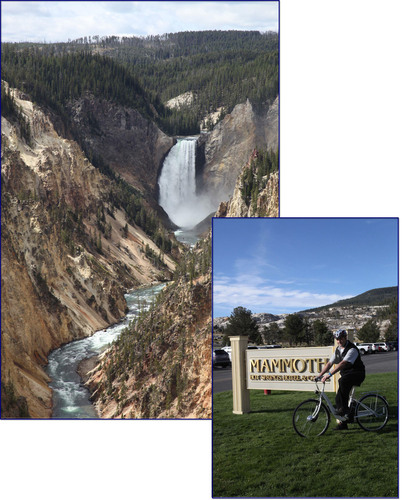 SANYO's eneloop bike in action at the Mammoth Hot Springs Hotel & Cabins by Bell Staff Member Frank ...