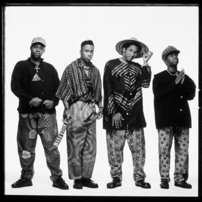 (L-R) Jarobi White, Ali Shaheed Muhammad, Q-Tip, and Phife Dawg
