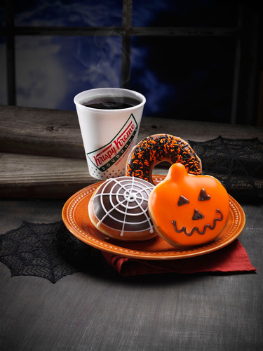 Make your Halloween celebrations uniquely delicious with Krispy Skremes! sweets and treats from Krispy Kreme. Your guests will be thrilled with the ghostly good looks and spooktacular taste of the Jack-o-Lantern, Spider Web, and Halloween Sprinkles doughnuts. Hurry in, Krispy Skremes! doughnuts vanish on October 31st. (PRNewsFoto/Krispy Kreme Doughnut Corporation)