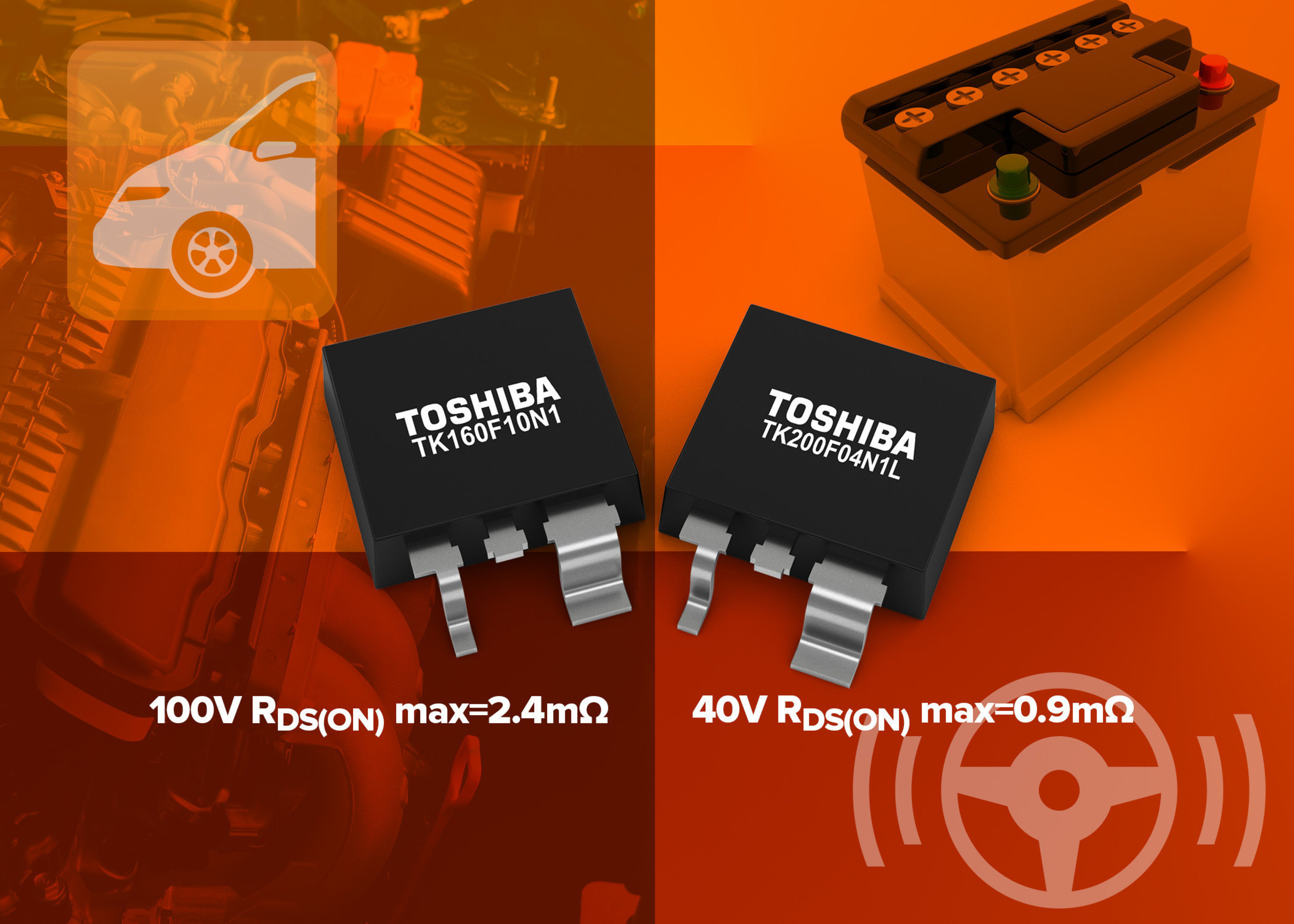 Toshiba Expands Range of Automotive N-ch MOSFETs
