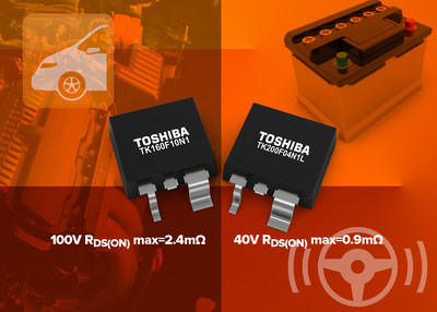 Toshiba's new automotive N-channel power MOSFETs are targeted to applications including electric power steering (EPS), DC-DC converters, motor drivers and load switches.