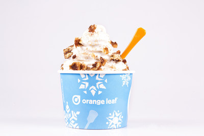 Orange Leaf Frozen Yogurt Introduces Cinnamon Roll Froyo (PRNewsFoto/Orange Leaf Frozen Yogurt)