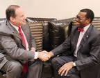 Philip Blumberg and Minister Adesina.  (PRNewsFoto/Blumberg Grain)