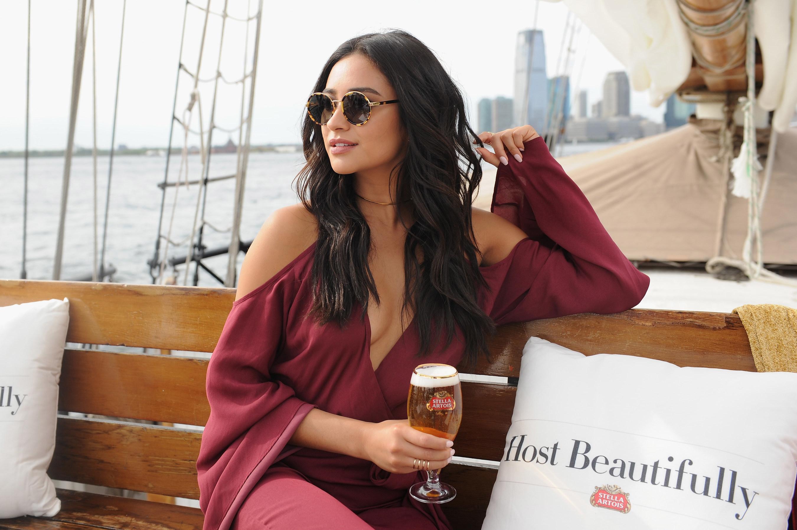 Shay Mitchell Raises A Chalice To Toast 'Bon Voyage To Summer' With Stella Artois