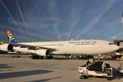 South African Airways A340-600 aircraft that will soon be operating on the New York - Johannesburg route