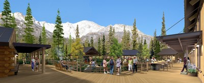 Holland America's new Base Camp at Alaska's McKinley Chalet Resort near Denali