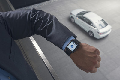 The Hyundai Blue Link Smartwatch app on Apple Watch