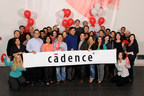 "Cadence President and CEO, Lip-Bu-Tan (center, in blue) celebrating with employees the inclusion into FORTUNE's list of ""100 Best Companies to Work For"""