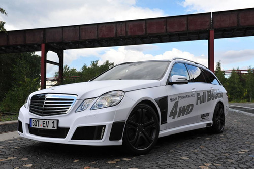 This BRABUS all electric vehicle being shown at the Frankfurt Motor show this week can produce a peak combined ...