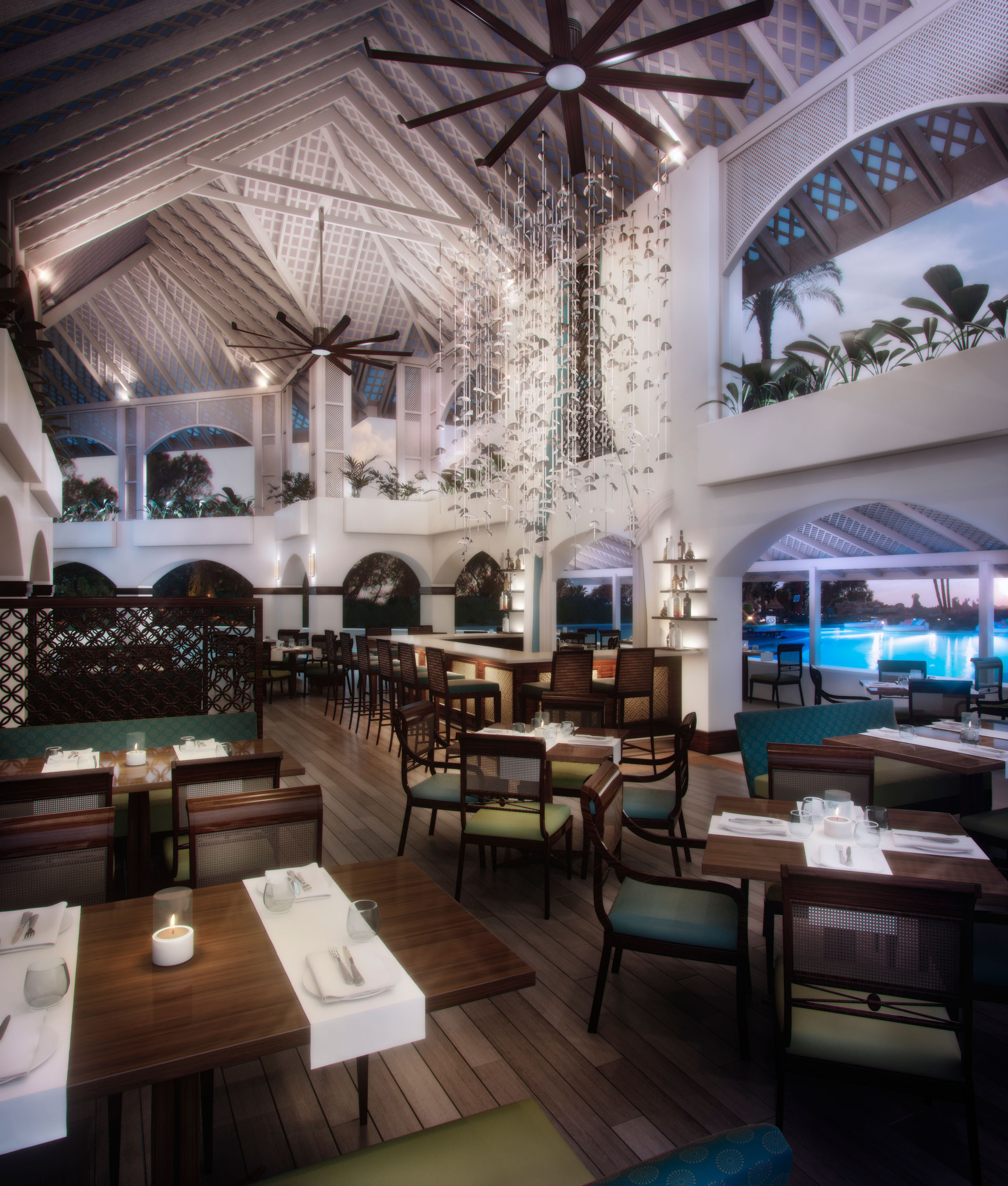 The Laguna Restaurant and Bar.  (PRNewsFoto/Elegant Hotels Group)