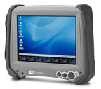 "The DAP M8930 features an optically-enhanced 7"" touch screen that utilizes ambient light to enhance viewability in all light conditions. Its ruggedness ensures it will continue working flawlessly in both indoor and outdoor settings, despite exposure to extreme temperatures, direct impacts, chemical spills, scratches and harsh environments. The M8930 conforms to MIL STD 810F, is dust and water sealed to IP-67 standards and has been engineered to withstand multiple 4-foot drops. (PRNewsFoto/DAP Technologies)"