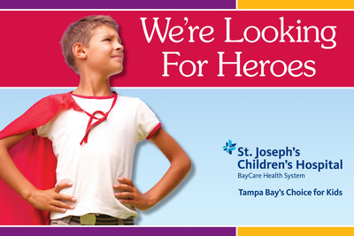"St. Joseph's Children's Hospital is accepting nominations for its 16th Annual ""Kids Are Heroes"" contest. Deadline to nominate the special child in your life is Dec. 31, 2012.  (PRNewsFoto/St. Joseph's Children's Hospital)"