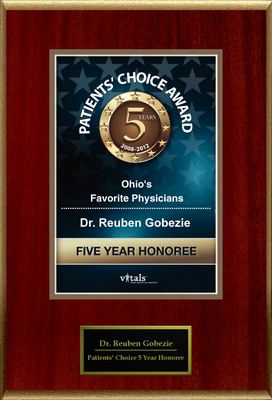 Dr. Reuben Gobezie of Cleveland, OH is a Five-Time Patients' Choice Honoree.  (PRNewsFoto/American Registry)