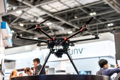 The increasing market for drones within the security industry is set to continue until at least 2025 (PRNewsFoto/IFSEC International)