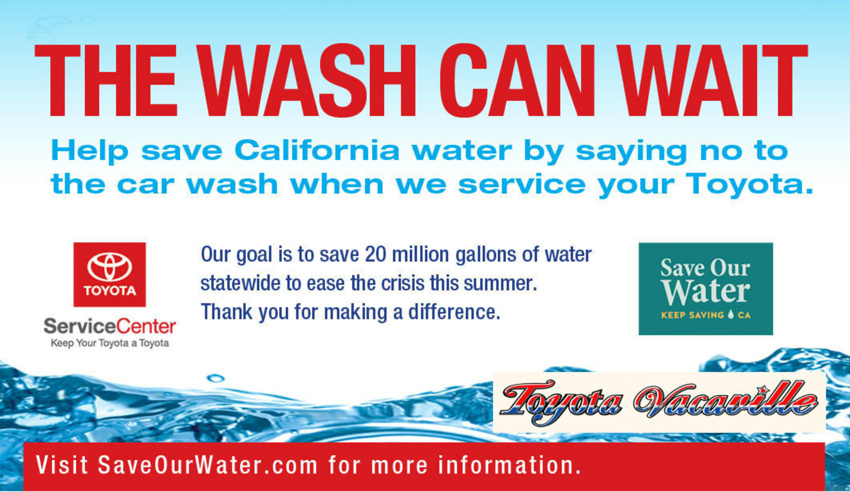 Toyota Vacaville reduces water use to help alleviate California water crisis