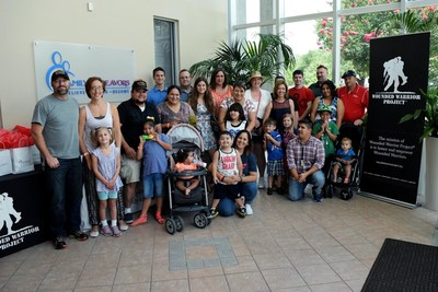 Veteran families gathered to make new friends at a Wounded Warrior Project event.