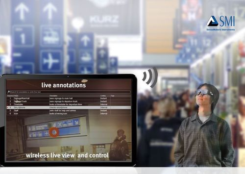 Wearable eye tracking with full wireless control by SensoMotoric Instruments (SMI) - www.eyetracking-glasses.com (PRNewsFoto/SensoMotoric Instruments)