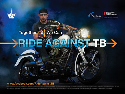 "Cepheid Announces ""Ride Against TB"" Campaign to Benefit the American Lung Association. Campaign Aims to Raise TB Awareness and Funds to Fight Lung Disease.  (PRNewsFoto/Cepheid)"