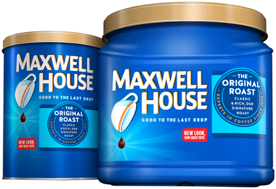 Maxwell House signature flavor, The Original Roast, in new packaging