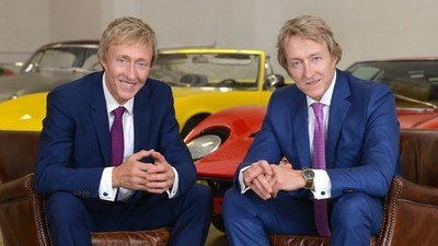 """Co-CEOs and Founders of Keno Brothers Fine Automobile Auctions, Leslie and Leigh Keno (left to right), will be moderating an automotive expert symposium prior to their """"Rolling Sculpture"""" Auction in NYC November 18th, visit www.kenobrothers.com"""