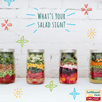 Earthbound Farm, America's leading grower of organic produce, celebrates its 30th Birthday in September with a Salad Sign Quiz, prizes and four commemorative, downloadable art cards with corresponding Salad-in-a-Jar recipes. Find your Salad Sign at http://www.ebfarm.com/salad-sign. (PRNewsFoto/Earthbound Farm)