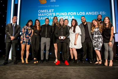 Omelet wins Campaign of the Year for 'Save The Drop LA' with The Mayor's Fund for Los Angeles