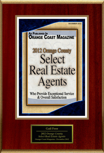 Laguna Woods Properties Selected For '2012 Orange County Select Real Estate Agents'