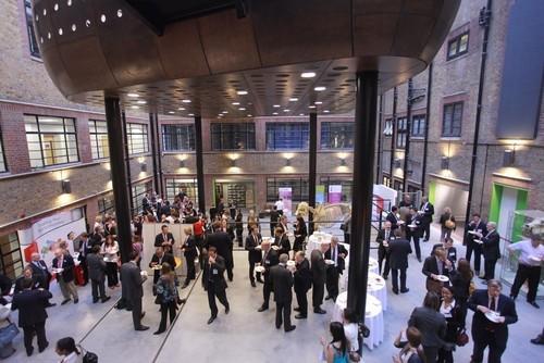 The lobby of the new Genesis Genetics London location, located in the London Bioscience Innovation Centre (LBIC). (PRNewsFoto/Genesis Genetics)