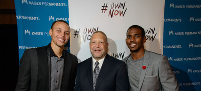 NBA Stars Chris Paul and Stephen Curry Join Kaiser Permanente in Encouraging Young Adults to #OwnNow.  (PRNewsFoto/Kaiser Permanente)