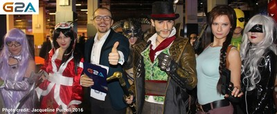 The co-founder and CEO of G2A, Bartosz Skwarczek was mobbed by cos-players after he officially opened GIST Gaming Istanbul 2016. He delivered a great speech and gamers were so inspired they kept cheering and clapping during the speech. Cos-players clamoured to have pictures taken with him. G2A.Com is hot in Istanbul! (PRNewsFoto/G2A.COM)